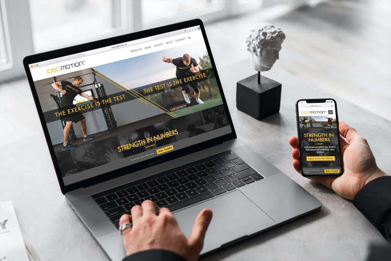 Custom WordPress Website Developed for a Major Technology Leader in Sports : 1080 Motion