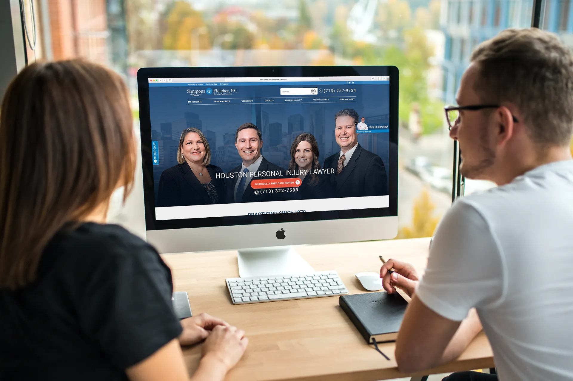 Simmons and Fletcher – Fastest SEO friendly website for our LAW client